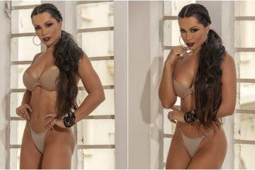 Fernanda Davila Foto de lingerie bege