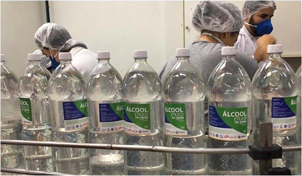 COSEMS-RS doacao de alcool Coronavirus no Rio Grande do Sul