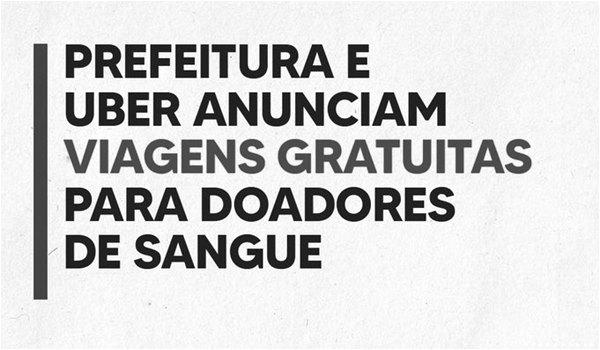 Tri bacana Prefeitura de Porto Alegre e Uber - viagem gratuita para doadores