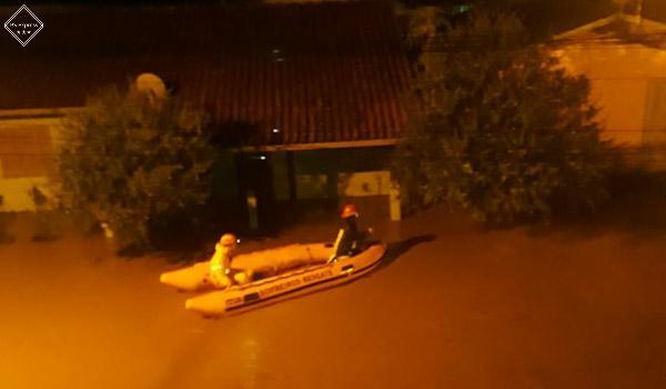 Enchente em Três Coroas no Rio Grande do Sul