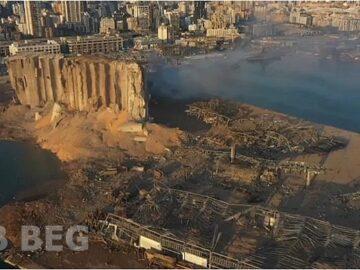 Gebbeg - Explosão no Porto de Beirute no Líbano