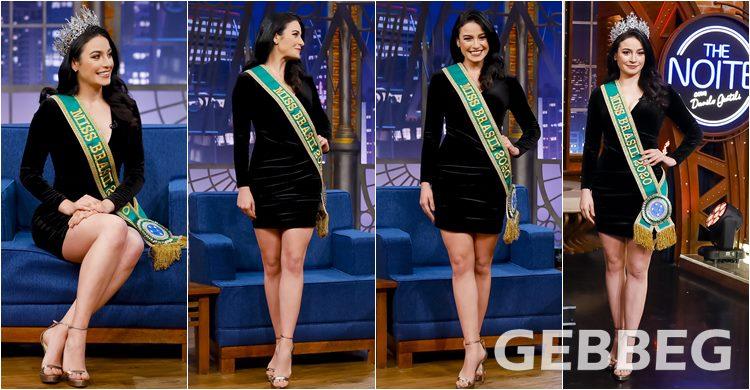 Miss Brasil 2020 - Julia Gama no The Noite com Danilo Gentili