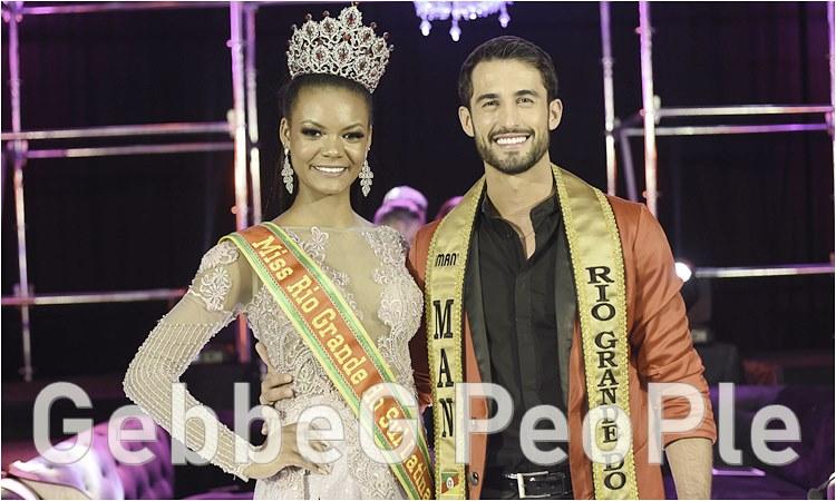 Natalia Suyan Miss Latina RS e Luiz Henrique Man Latino RS