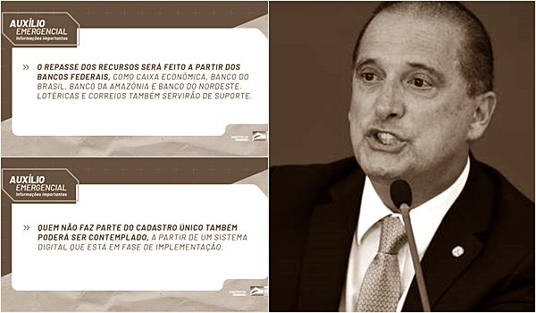 Onyx Lorenzoni Flash News Brasil : pagamento do auxílio emergencial