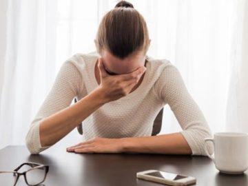 tristeza estresse dor de cabeca preocupacao